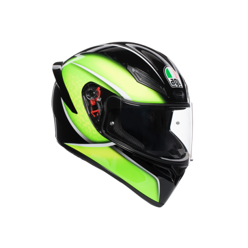 CASCO AGV K1_MULTI_ECE2205 - QUALIFY BLACK/LIME