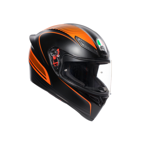 CASCO AGV K1_MULTI_ECE2205 - WARMUP MATT BLACK/ORANGE